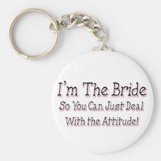 I'm The Bride Basic Round Button Key Ring