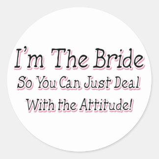 I'm The Bride Round Sticker