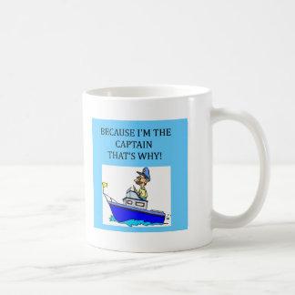 i'm the captain coffee mug