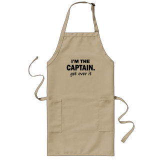 I'm the Captain. Get over it - funny Apron