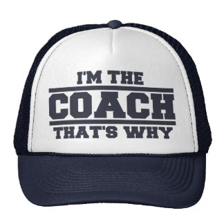I'm The COACH That's Why Hat (navy blue)