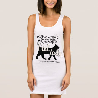 I'm the crazy cat lady you were warned about sleeveless dress