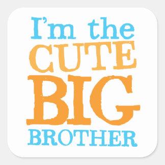 I'm the CUTE Big brother Square Sticker