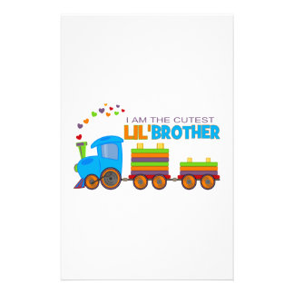 I'm the cutest Lil' Brother Stationery Design