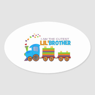 I'm the cutest Lil' Brother Oval Sticker