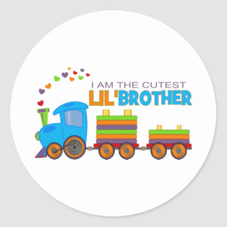 I'm the cutest Lil' Brother Round Sticker