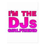 I'm The DJs Girlfriend - gf Disc Jockey deejay Postcards