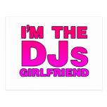 I'm The DJs Girlfriend - gf Disc Jockey deejay Postcard