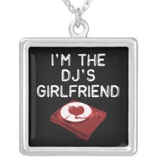 I'm The DJ'S Girlfriend Square Pendant Necklace