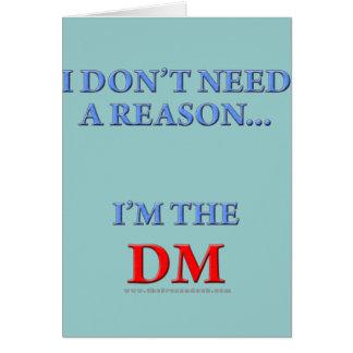 I'm the DM Card