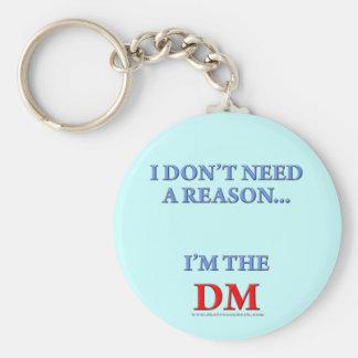 I'm the DM Basic Round Button Key Ring