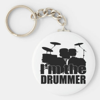 I'm the Drummer Basic Round Button Key Ring