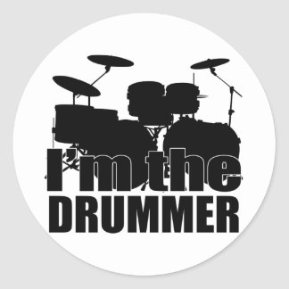 I'm the Drummer Classic Round Sticker