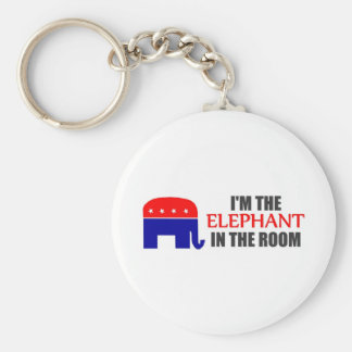 I'm the Elephant in the Room Key Ring