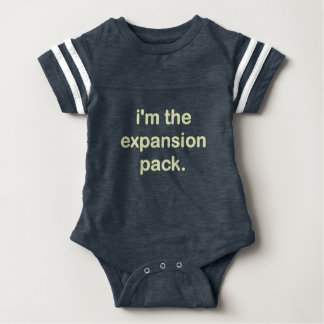I'm The Expansion Pack (Ylw/Wt) Baby Bodysuit