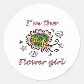 I'm The Flower Girl Round Sticker