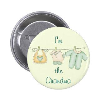 I'm the Grandma Baby Announcement 6 Cm Round Badge