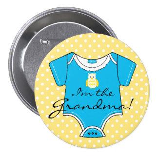 I'm The Grandma-Baby Shower Pin