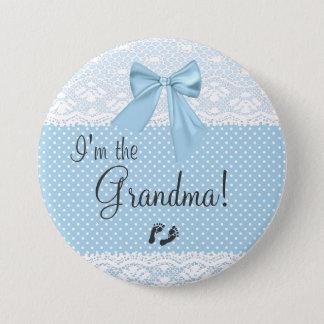 I'm The Grandma Blue Lace 7.5 Cm Round Badge