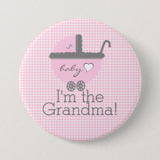 I'm The Grandma-Girl Baby 7.5 Cm Round Badge