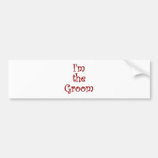 Im the Groom Car Bumper Sticker