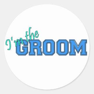 I'm The Groom Round Sticker