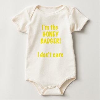 Im the Honey Badger! I Dont Care! Baby Bodysuit