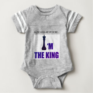 I'm the King Baby Jersey Grey Bodysuit
