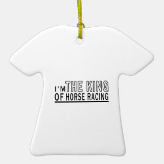 I'm The King Of Horse Racing Christmas Tree Ornament