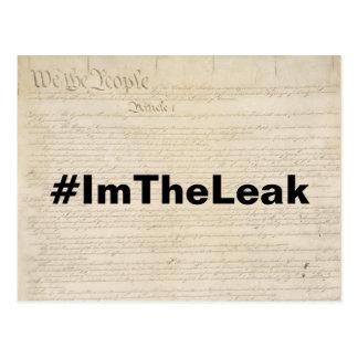 I'm the Leak Resistance Postcard