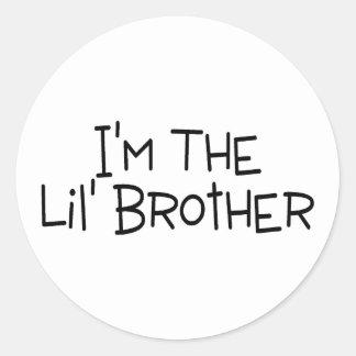 Im The Lil Brother Round Sticker