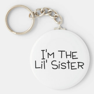 Im The Lil Sister Basic Round Button Key Ring
