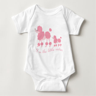 I'm The Little Sister French Poodles Baby Bodysuit
