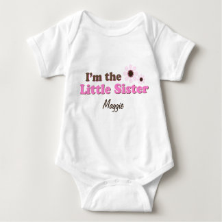 I'm The Little Sister Mod Flowers Personalized Infant Creeper