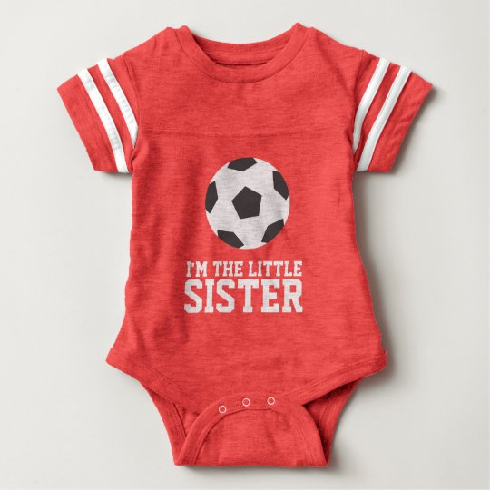 """I'm the Little Sister"" Soccer Jersey Number Baby"