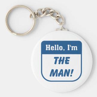 I'm the man t-shirts. basic round button key ring