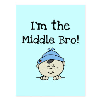 I'm the Middle Bro Tshirts and Gifts Postcard