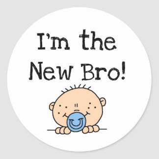 I'm the New Bro Tshirts and Gifts Classic Round Sticker