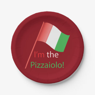 I'm the Pizzaiolo! Paper Plate
