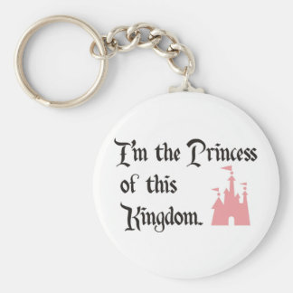 I'm the Princess of this Kingdom Basic Round Button Key Ring