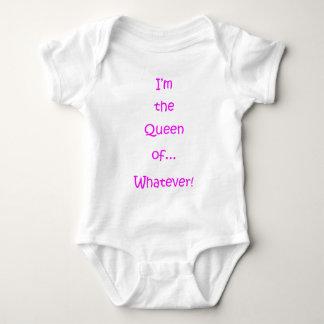 I'm The Queen Of... Whatever! ( Light ) Baby Bodysuit