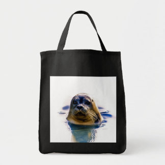I'M THE REAL SEAL! GROCERY TOTE BAG