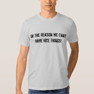 I'm The Reason We Can't Have Nice Things! Tshirt
