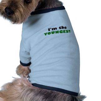Im the Youngest Ringer Dog Shirt
