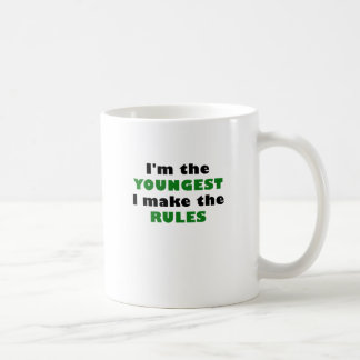 Im the Youngest I Make the Rules Basic White Mug