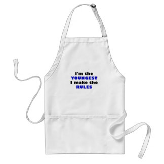 Im the Youngest I Make the Rules Standard Apron