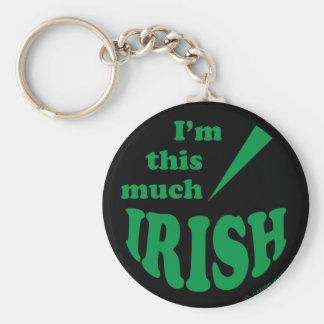 I'm This Much Irish Keychains