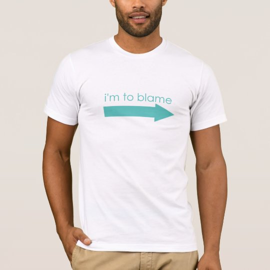 I'm To Blame Arrow Couples Pregnancy T-Shirt