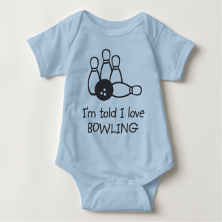 I'm told I love BOWLING Infant Baby Bodysuit