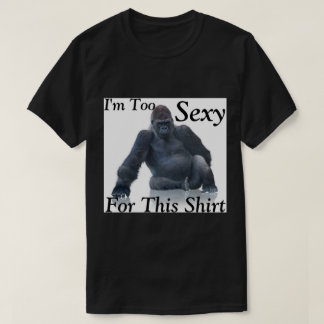 I'm Too Sexy Men's Black T-Shirt
